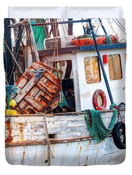 Miss Hale Shrimp Boat - Side Duvet Cover
