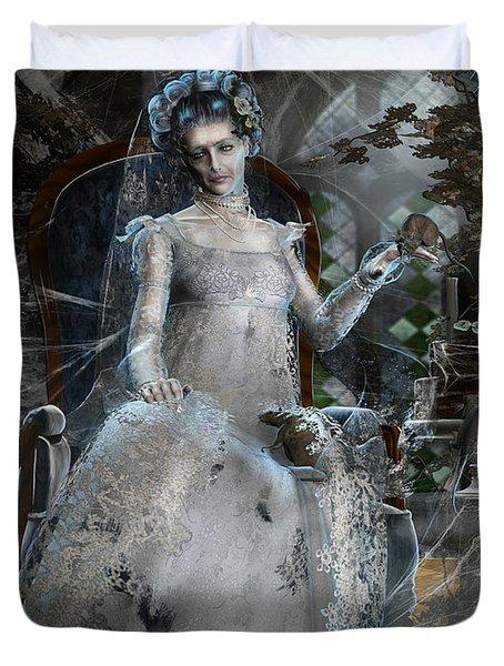 Miss. Havisham Duvet Cover by Mary Hood