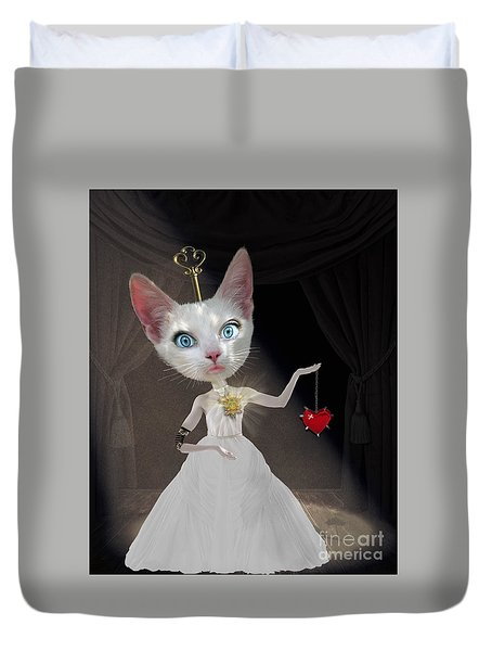 Miss Kitty Duvet Cover by Juli Scalzi