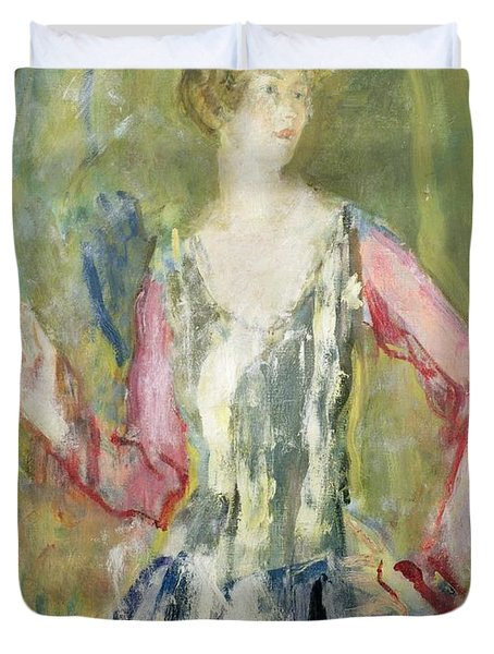 Miss Nancy Cunard Duvet Cover by Ambrose McEvoy