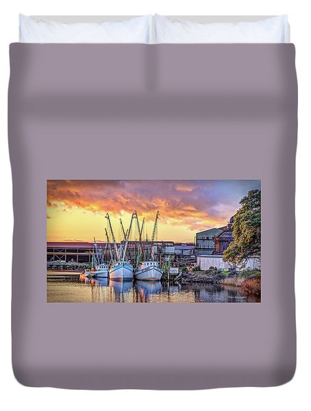 Miss Nichole's Shrimping Company Duvet Cover