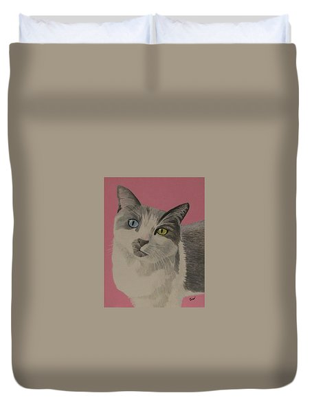Miss Pretty Kittie Duvet Cover
