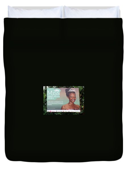 Miss West Africa Duvet Cover