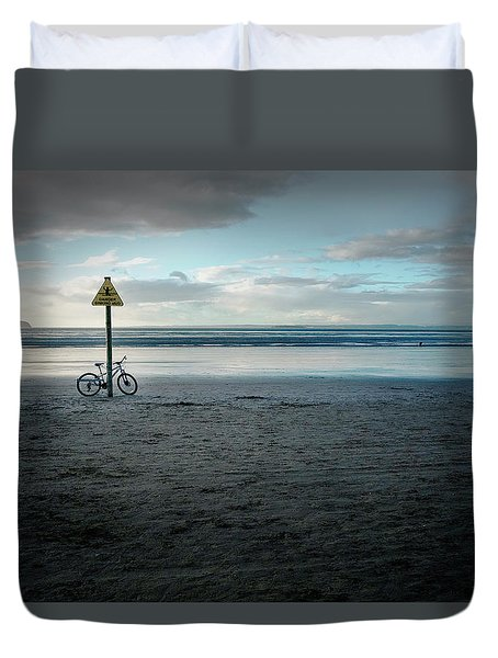 Missing Cyclist Duvet Cover