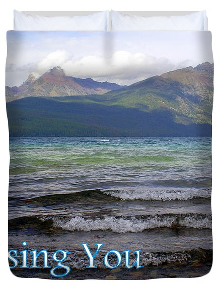 Missing You 1 Duvet Cover by Marty Koch