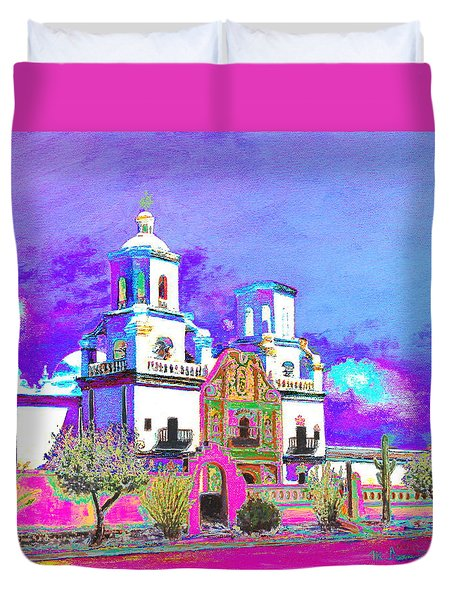 Mission Abstract 3 Duvet Cover
