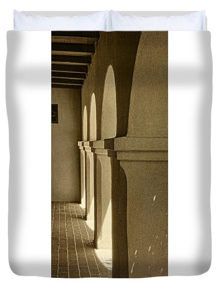 Mission Arches Pano Sepia Duvet Cover