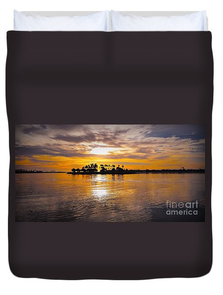 Mission Bay Purple Sunset By Jasna Gopic Duvet Cover