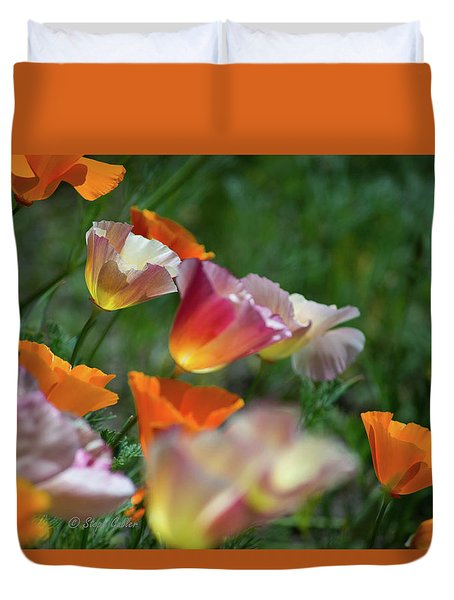 Mission Bell Poppies Duvet Cover
