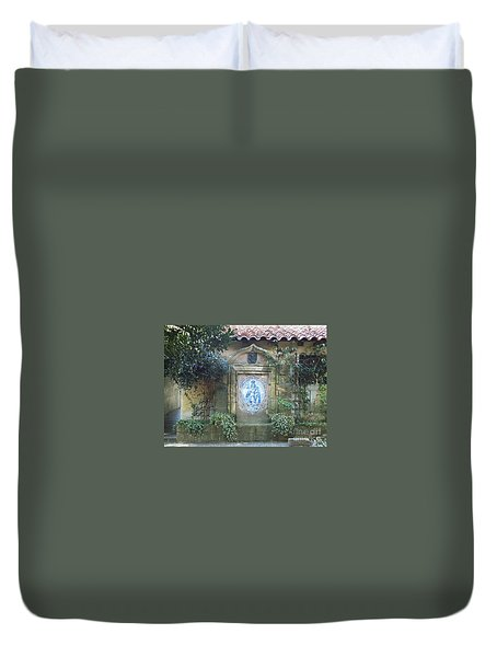 Mission Carmel Court Yard Duvet Cover