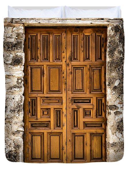 Mission Concepcion Door #3 Duvet Cover