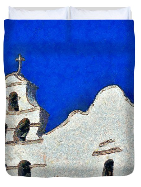 Mission San Diego De Alcala Duvet Cover by Christine Till