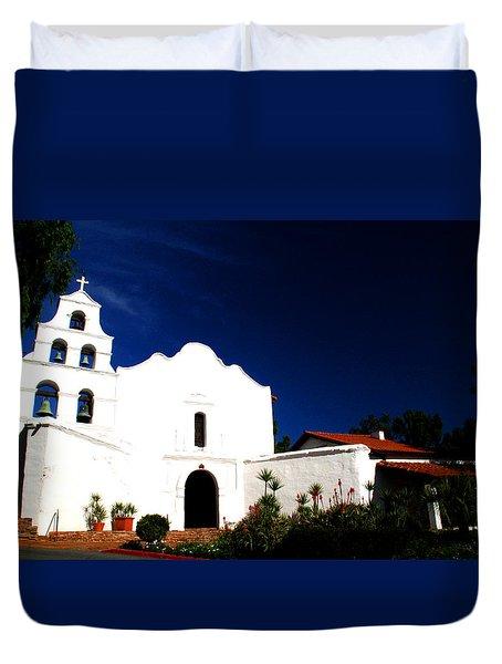 Mission San Diego De Alcala Duvet Cover by Christopher Woods