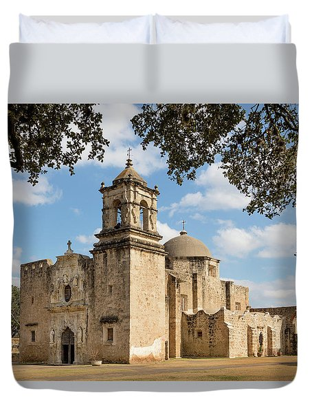 Duvet Cover featuring the photograph Mission San Jose by Mary Jo Allen