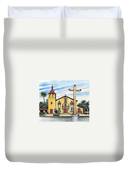 Mission Santa Clara De Asis Duvet Cover by Terry Banderas