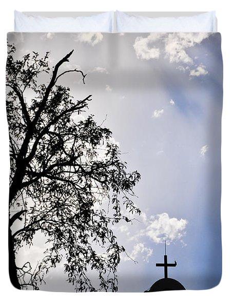 Mission Duvet Cover by Skip Hunt