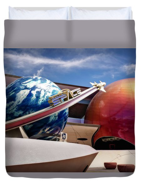 Duvet Cover featuring the photograph Mission Space by Eduard Moldoveanu