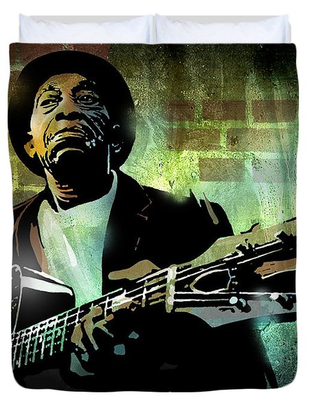 Mississippi John Hurt Duvet Cover by Paul Sachtleben