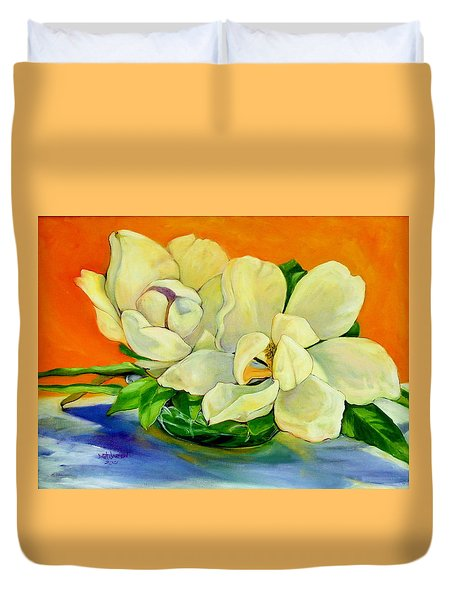 Mississippi Magnolias Duvet Cover by Jeanette Jarmon