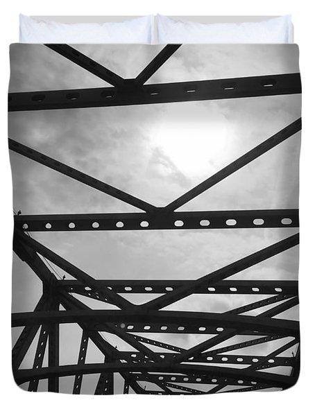 Mississippi River Bridge Duvet Cover