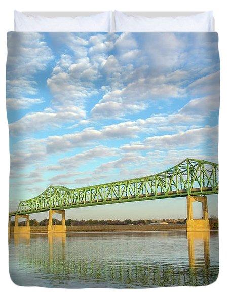 Mississippi River Illinois Usa Duvet Cover