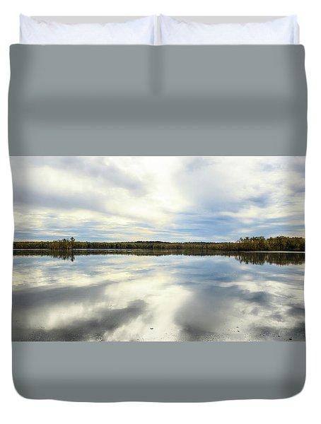 Mississippi River Panorama Duvet Cover by Joni Eskridge