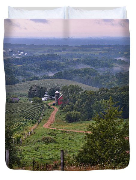 Mississippi River Valley 2 Duvet Cover