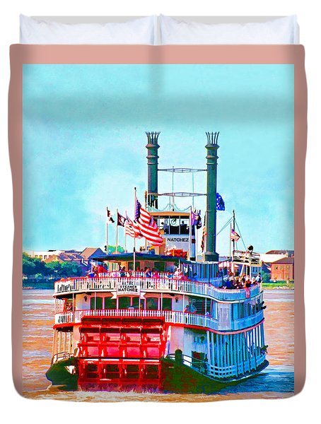 Mississippi Steamboat Duvet Cover