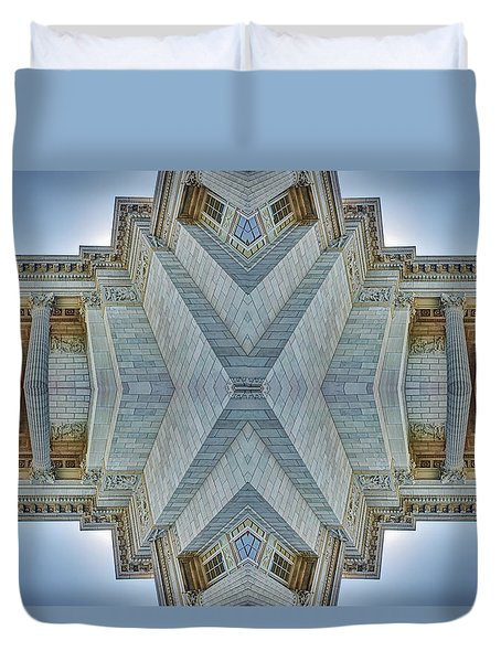 Duvet Cover featuring the photograph Missouri Capitol - Abstract by Nikolyn McDonald