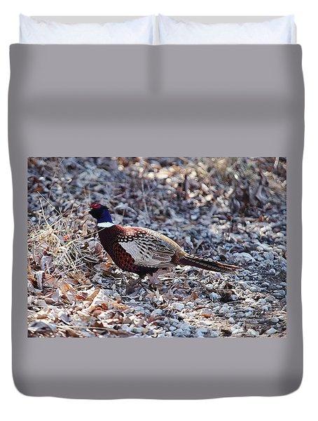 Missouri  Pheasant Duvet Cover