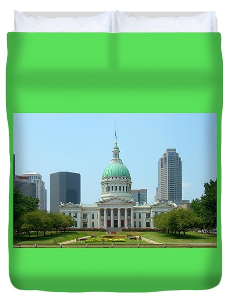 Duvet Cover featuring the photograph Missouri State Capitol Building by Mike McGlothlen