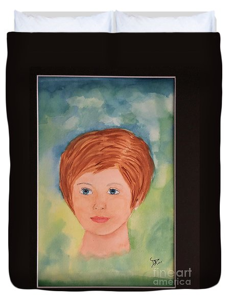 Duvet Cover featuring the painting Missy by Donald Paczynski