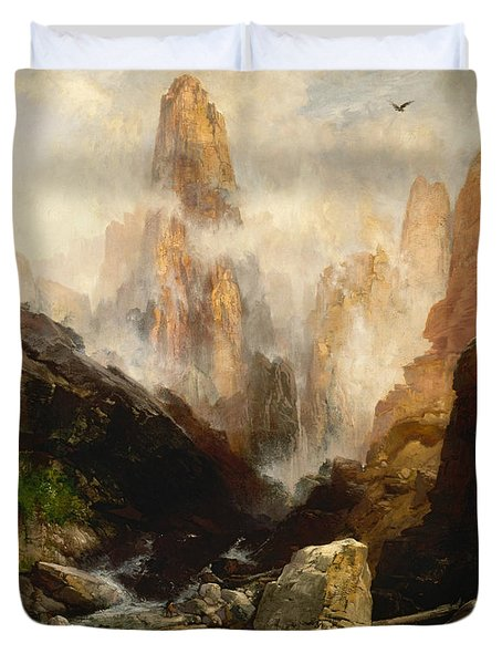 Mist In Kanab Canyon Utah Duvet Cover