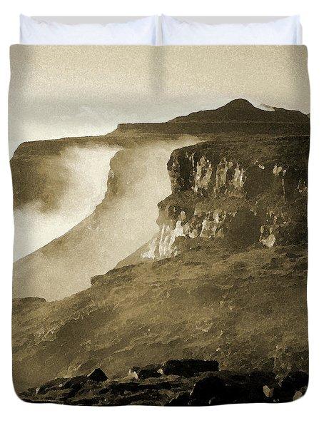 Mist In Lesotho Duvet Cover