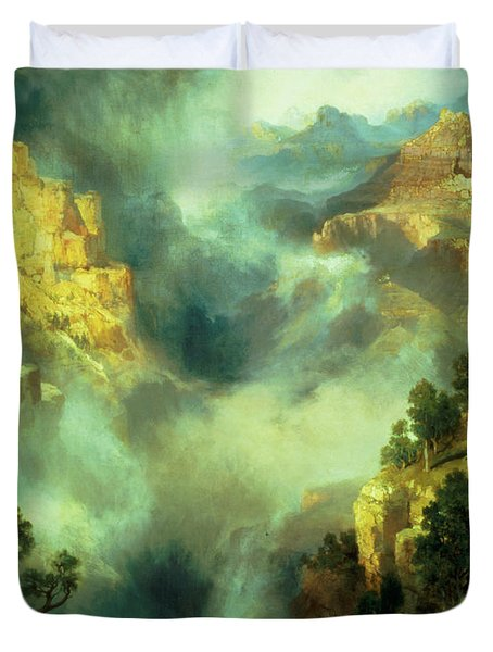 Mist In The Canyon Duvet Cover