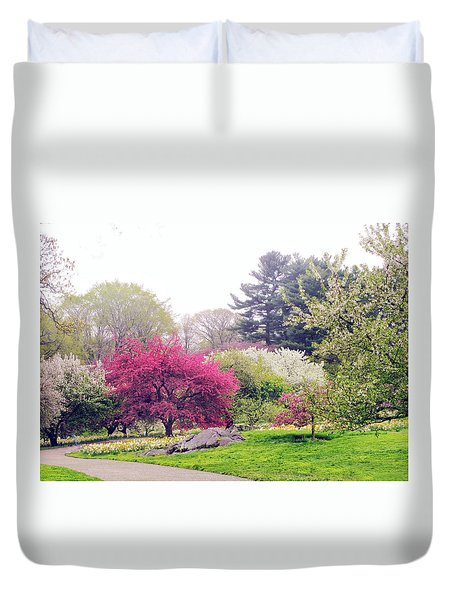 Mist In The Meadow Duvet Cover by Jessica Jenney