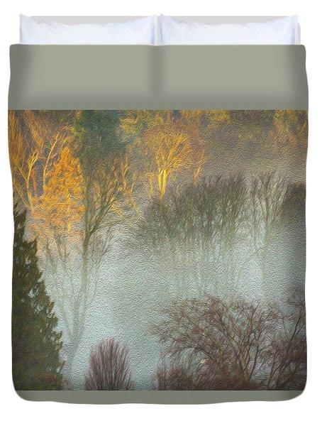 Mist In The Park Duvet Cover