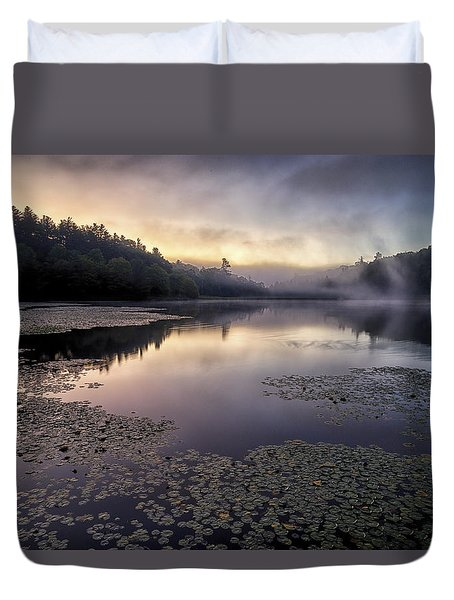 Bass Lake Sunrise - Blue Ridge Parkway Duvet Cover