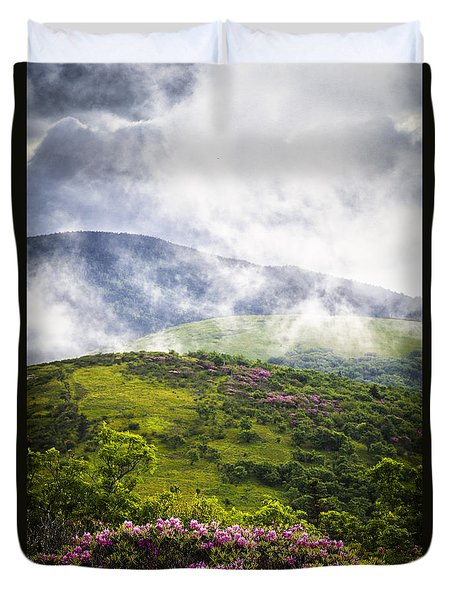 Rhododendrons - Roan Mountain Duvet Cover