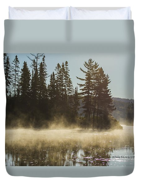 Mist On Costello Lake Duvet Cover
