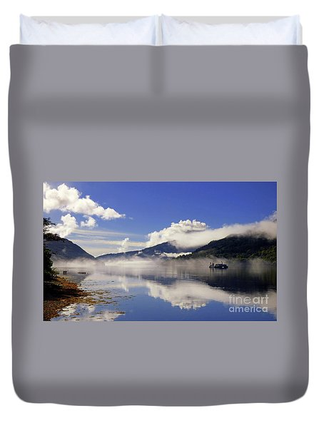 Mist On The Loch Duvet Cover