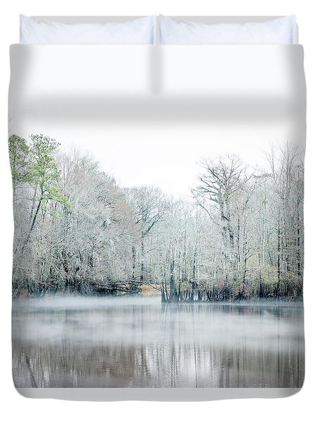 Mist On The River Duvet Cover