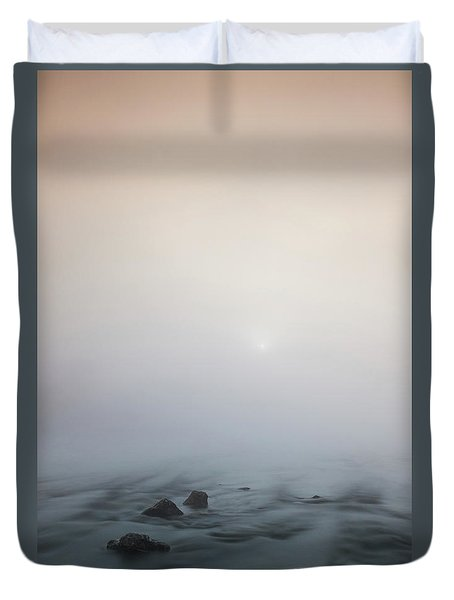 Duvet Cover featuring the photograph Mist Over The Third Stone From The Sun by Davor Zerjav