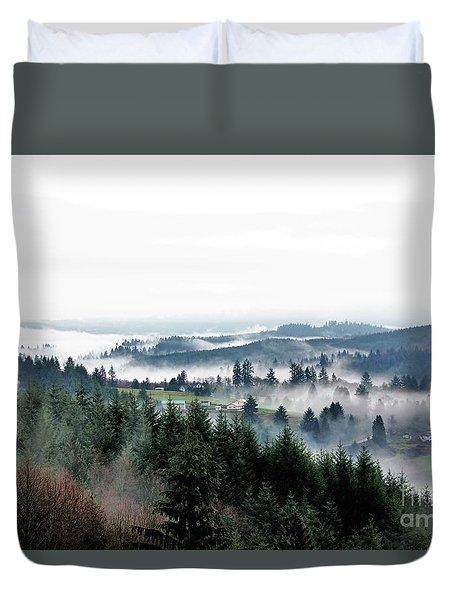 Mist Rising Duvet Cover
