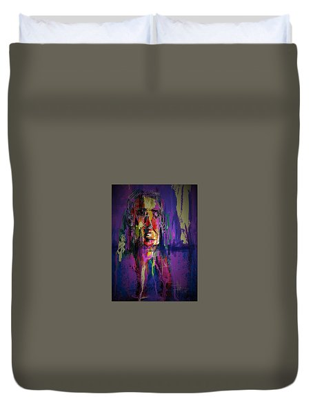 Mister Head Duvet Cover by Jim Vance