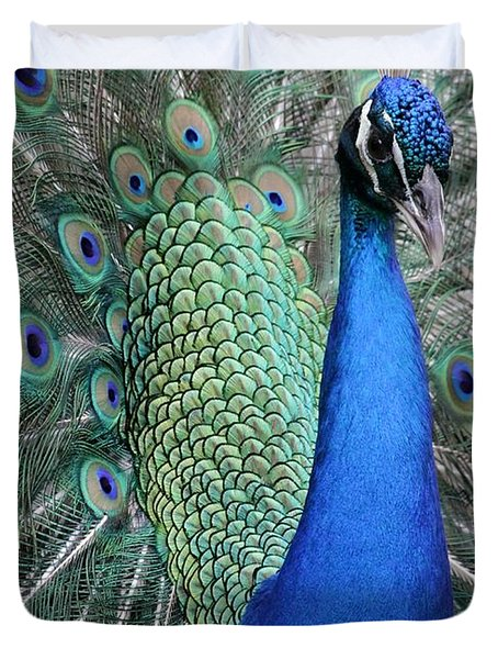 Mister Peacock Duvet Cover