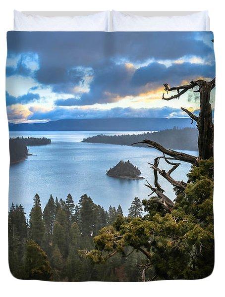 Mistic Tahoe Sunrise Duvet Cover