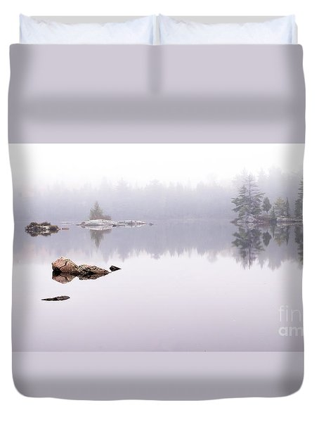 Misty Algonquin Morning Duvet Cover