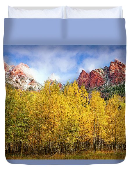 Misty Autumn Morning Duvet Cover
