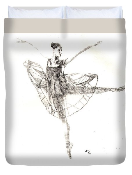 Misty Ballerina Dancer IIi Duvet Cover